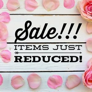 🎉SALE!!! Items just reduced!